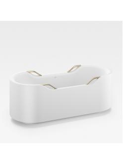Armani Roca Baia – Ванна отдельностоящая с 4 ручками, белый/greige (24844800C)