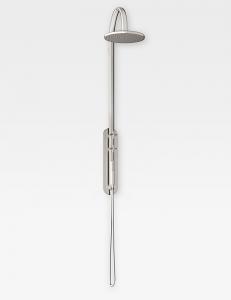 Armani Roca Baia Душевая стойка со встраиваемым термостатом, brushed steel