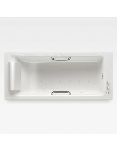 Armani Roca Island Встраиваемая ванна 180 см с аэромассажем, glossy white/хром