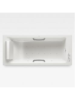 Armani Roca Island 248243001– Встраиваемая ванна 180 см с аэромассажем, цвет glossy white/хром