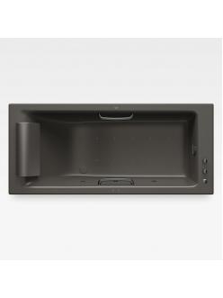 Armani Roca Island 248243R5G – Встраиваемая ванна 180 см с аэромассажем, цвет nero