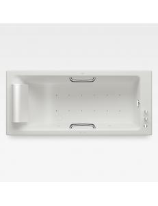 Armani Roca Island Встраиваемая ванна 180 см с аэромассажем, off-white/хром