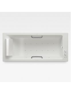 Armani Roca Island 248243911 – Встраиваемая ванна 180 см с аэромассажем, цвет off-white/хром