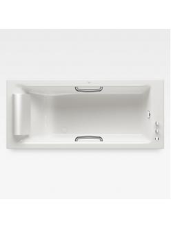 Armani Roca Island 248244001 – Встраиваемая ванна 180 см с термостатом, цвет glossy white/хром