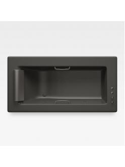 Armani Roca Island 248200R5G – Встраиваемая ванна 214,5 см с аэромассажем, цвет nero