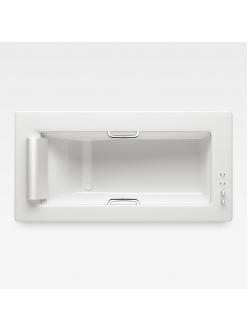 Armani Roca Island 248201001 – Встраиваемая ванна 212 см с термостатом, цвет glossy white/хром