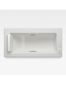 Armani Roca Island Встраиваемая ванна 212 см с термостатом, off-white/хром