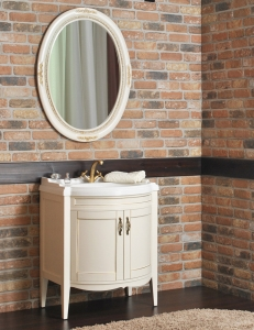 Атолл Неаполь Dorato Комплект мебели для ванной, Слоновая кость патина золото