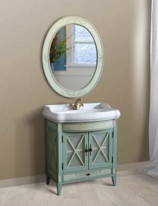 Атолл Ретро Oliva Комплект мебели для ванной, оливковый состаренный