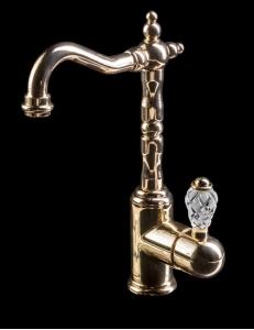 Boheme Crystal Gold 282-CRST Смеситель для умывальника, высокий