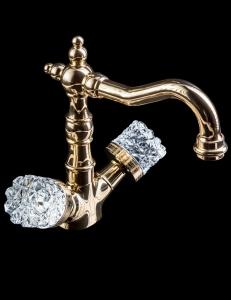 Boheme Crystal Gold 292-CRST Смеситель для умывальника, высокий