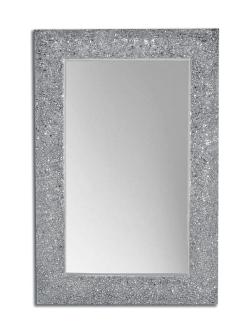 Boheme Aura 538 Зеркало с подсветкой в багетной раме (серебро глянец)