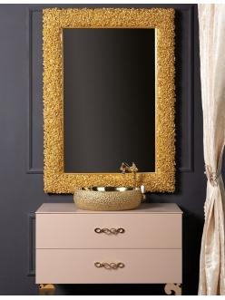 Boheme Rose 539 Зеркало в багетной раме (золото)