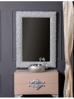 Boheme Rose 547 Зеркало в багетной раме 85 см (серебро)