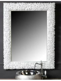 Boheme Rose 549 Зеркало в багетной раме 85 см (белый)
