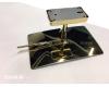 Boheme 506-G Косметическое настенное зеркало с оптическим увеличением +3x (Золото)