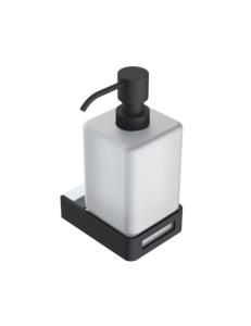 Boheme Q 10957-CR-B Диспенсер для мыла настенный, хром/черный