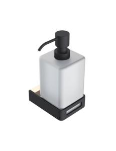 Boheme Q 10957-G-B Диспенсер для мыла настенный, золото/черный