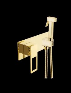 Boheme Q 147-G Гигиеническая лейка со смесителем, золото