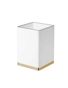 Boheme 10961-W-G Стакан для щеток, золото/белый
