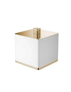 Boheme 10964-W-G Стакан для ваты, золото/белый