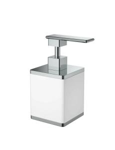 Boheme 10969-W-CR Диспенсер для мыла настольный, белый/хром
