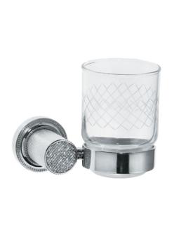 Boheme Royal Crystal 10924-CR Стакан для зубных щеток (Хром)