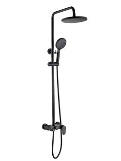 Boheme Spectre 458-B Душевая стойка со смесителем (Черный)