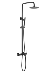 Boheme UNO 468-B – душевая стойка с изливом, чёрный матовый