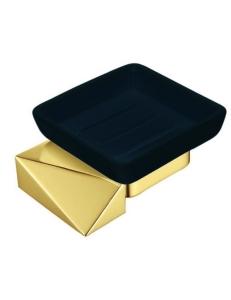 Boheme Venturo 10313-G-B Мыльница настенная, золото/черный