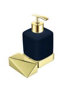 Boheme Venturo 10317-G-B Диспенсер для мыла настенный, золото/черный