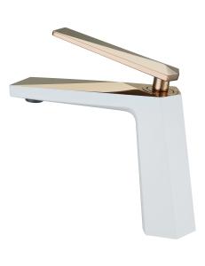 Boheme Venturo 381-W Смеситель для умывальника белый/золото