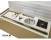 Boheme Venturo 389-W Смеситель для ванны напольный однорычажный (Белый/золото)