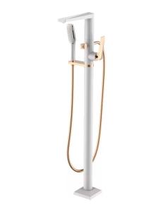 Boheme Venturo 389-W Смеситель для ванны напольный, белый/золото
