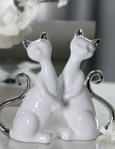 """Casablanca Design арт. 46125 Композиция бело-серебристая """"Кошки Милли"""""""