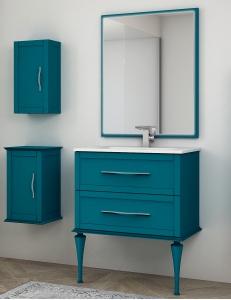 Cezares Classico Tiffany  75 Тумба с раковиной, цвет Blu Petrolio