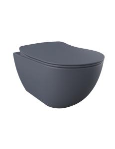 Creavit Free FE320.20100 – унитаз подвесной с сиденьем, базальт матовый