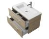 Creto Ares 10-1113D – Тумба подвесная 2 ящика 80 см с раковиной, Davos