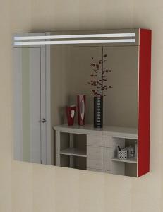 De Aqua Эколь  90 – Зеркальный шкаф с подсветкой