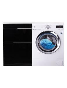 El Fante Даймонд 120 Мебель под стиральную машину, черный глянец, левая/правая