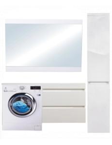El Fante Даллас 130 Мебель подвесная под стиральную машину, белый глянец, левая/правая
