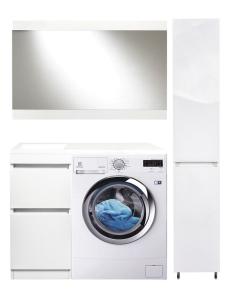 El Fante Даллас 100 Мебель под стиральную машину, белый глянец, левая/правая