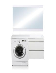 El Fante Даллас 100 Мебель подвесная под стиральную машину, белый глянец, левая/правая