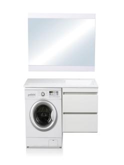 El Fante Даллас 100 Мебель подвесная под стиральную машину, Белый глянец