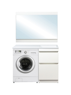 El Fante Даллас 115 Мебель напольная под стиральную машину, Белый глянец