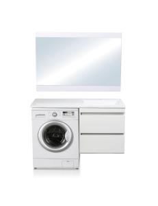 El Fante Даллас 110 Мебель подвесная под стиральную машину, белый глянец, левая/правая