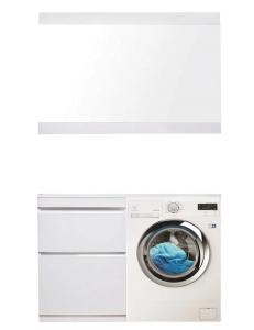 El Fante Даллас 130 Мебель под стиральную машину, белый глянец, левая/правая