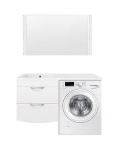 El Fante Жасмин 120 Мебель подвсеная под стиральную машину, белый глянец, левая/правая