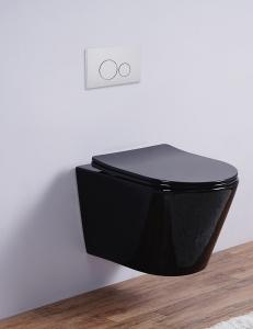 Esbano CLAVEL Унитаз подвесной безободковый, черный