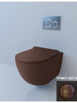 Esbano GARCIA Унитаз подвесной безободковый кофе матовый